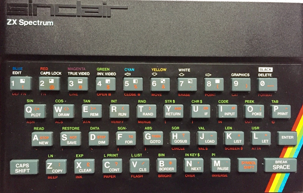 Der Tastatur-Dschungel des ZX Spectrum