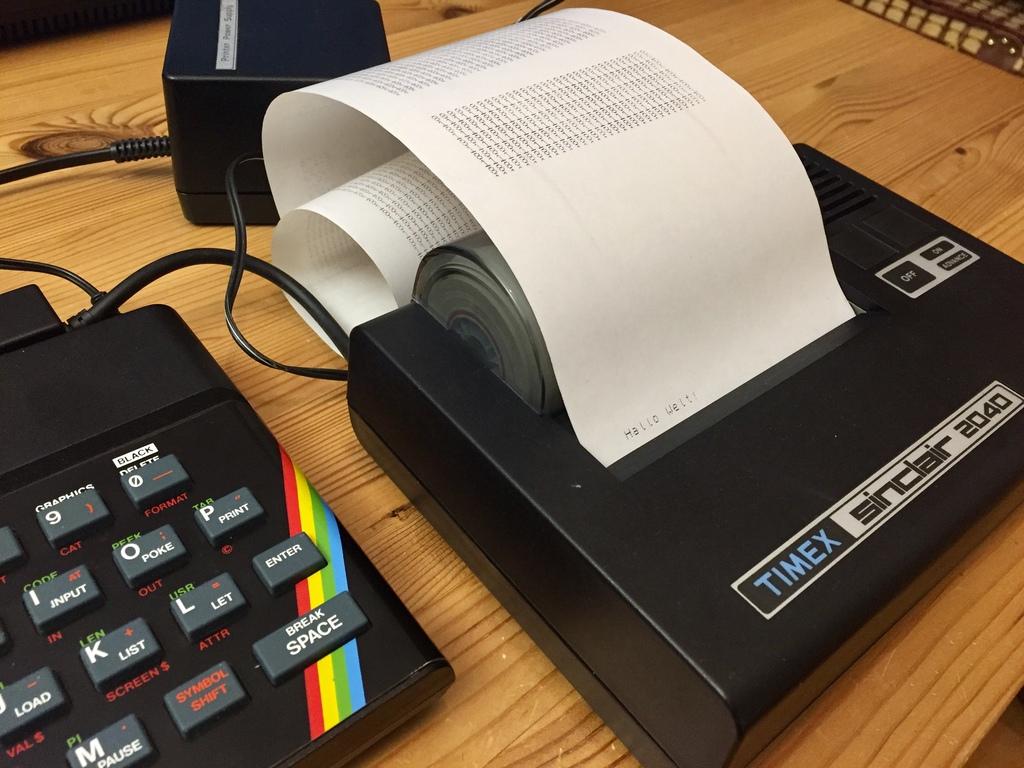 Timex Sinclair 2040 – Ein Drucker macht FAXen