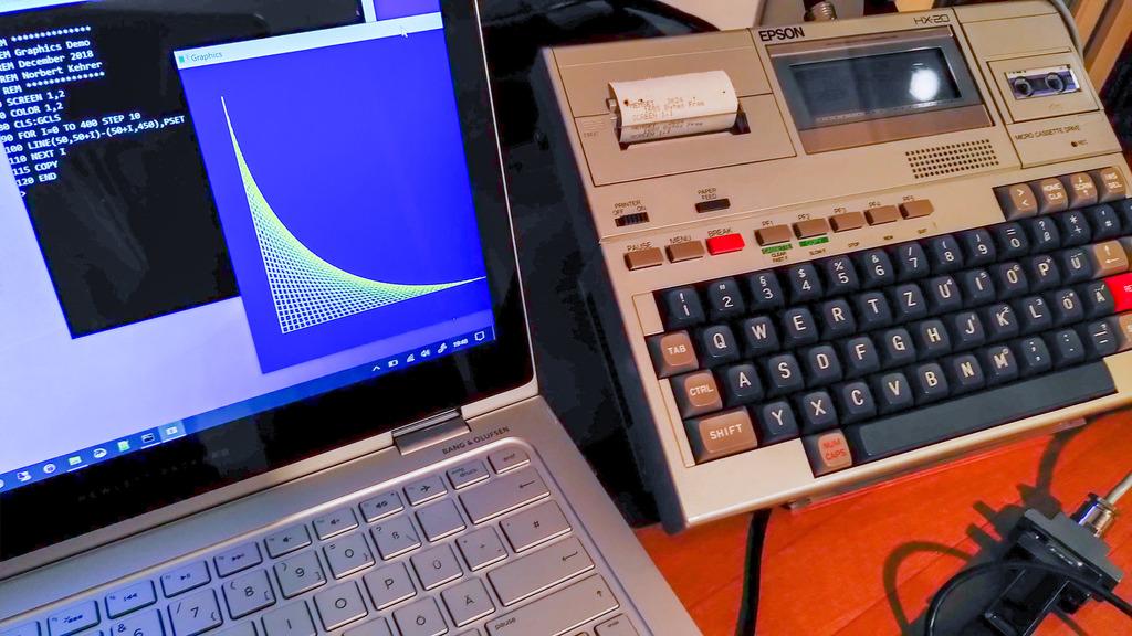 EPSON HX-20 entfesselt: Mehr Zeichen und Grafik für den Laptop